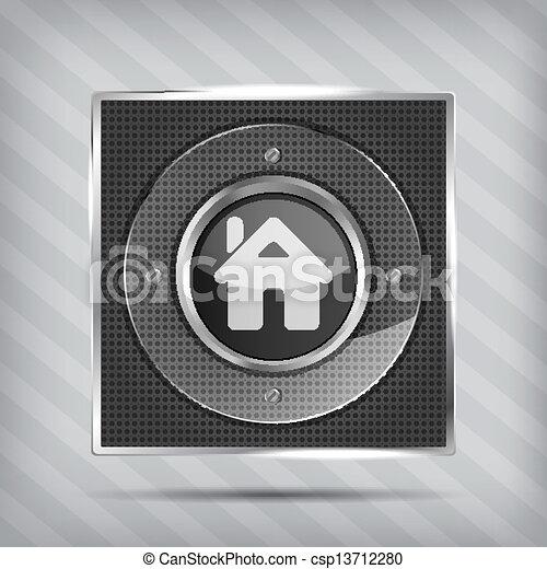 home button icon - csp13712280