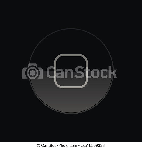 Home Button, Icon. Round. Vector Illustration - csp16509333