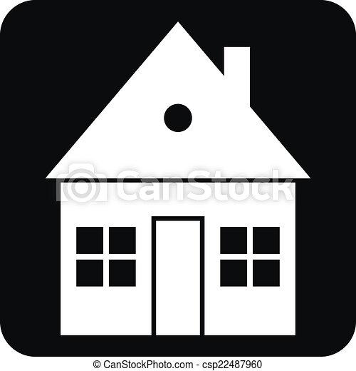 Home button on white - csp22487960