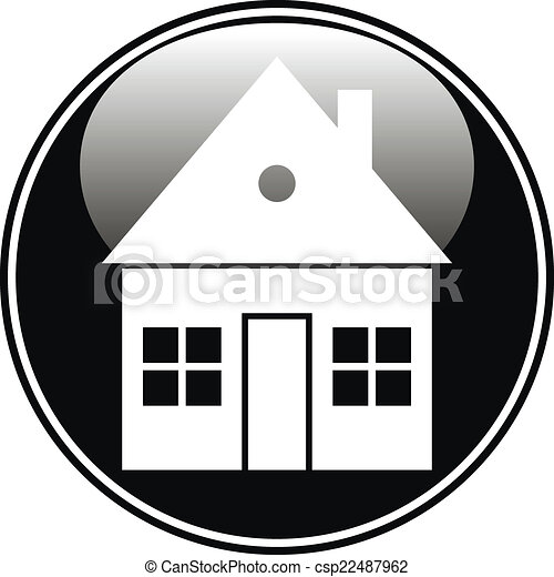 Home button on white - csp22487962