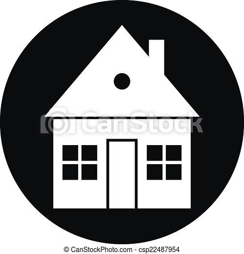 Home button on white - csp22487954