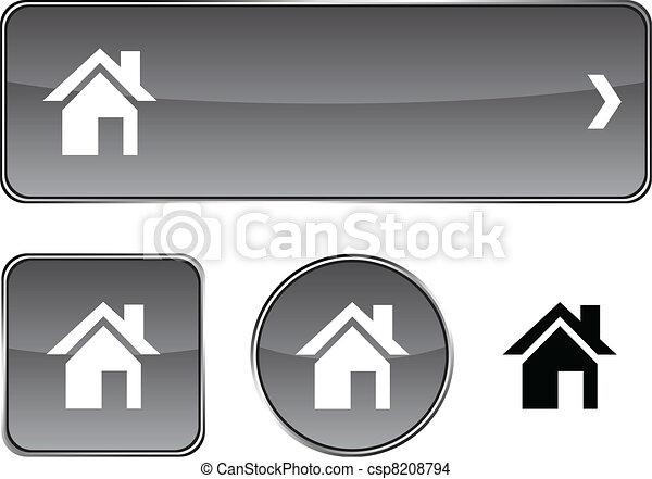 Home button set. - csp8208794