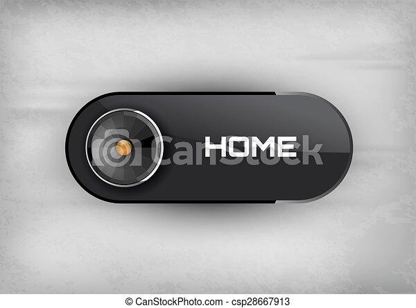Home Button - csp28667913