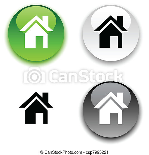 Home button. - csp7995221