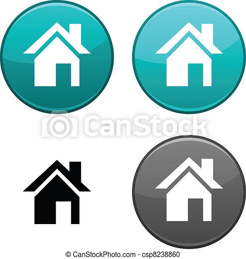 Home button. - csp8238860