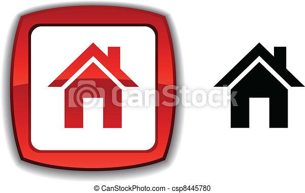 Home button. - csp8445780