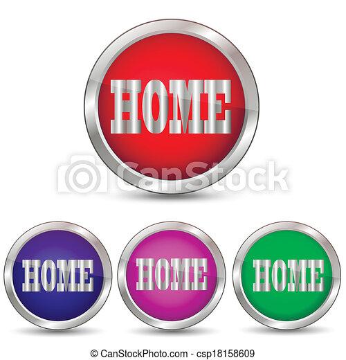Home button vector - csp18158609