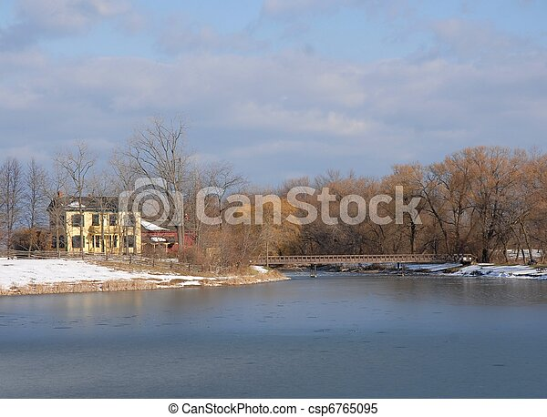 home by the lake - csp6765095