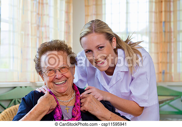 home care of the old lady - csp11595941
