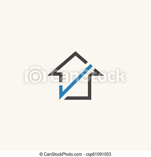 home check logo icon vector - csp61091053