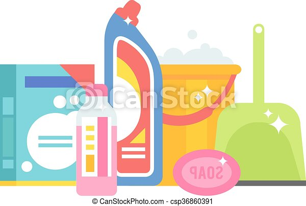 Home chemistry isolated vector illustration. - csp36860391