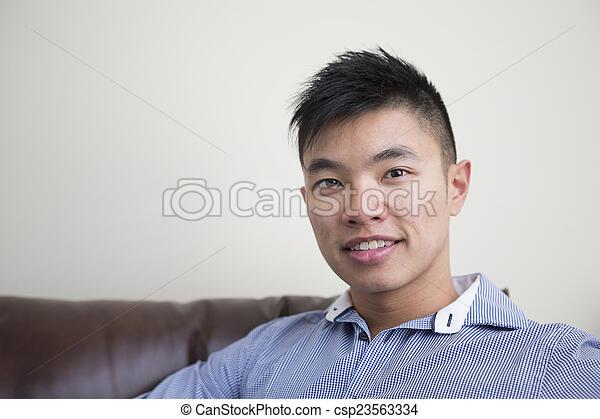 home., chinês, relaxante, homem - csp23563334