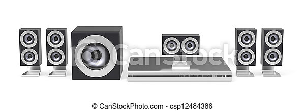 Home cinema system - csp12484386