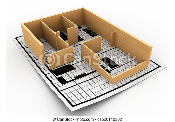 Home Construction. Blueprint. (Architectural Background)   Csp20140382