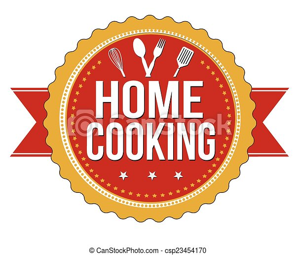Home cooking label or stamp - csp23454170
