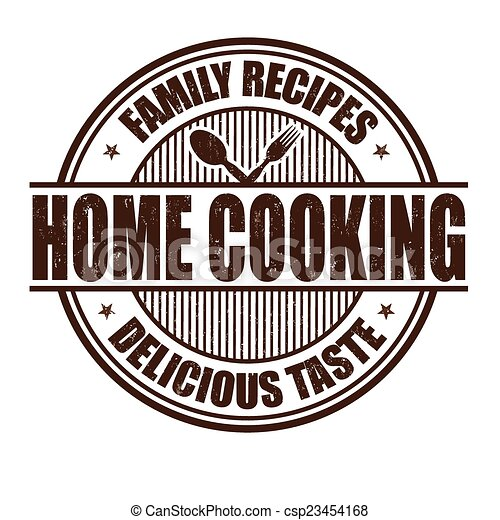 Home cooking stamp - csp23454168