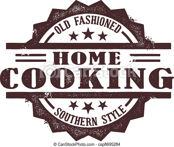 Home Cooking Stamp - csp8695284