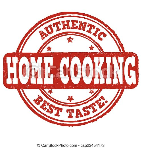 Home cooking stamp - csp23454173