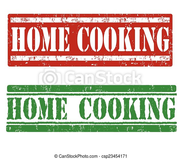 Home cooking stamps - csp23454171