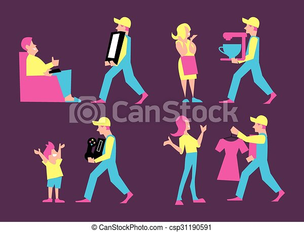 Home delivery services. - csp31190591