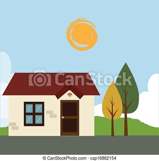 home design over lines background vector illustration clip art ...