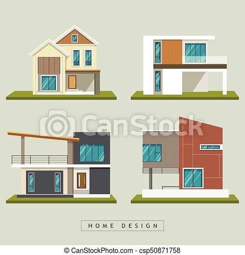 Home design collections vector - csp50871758
