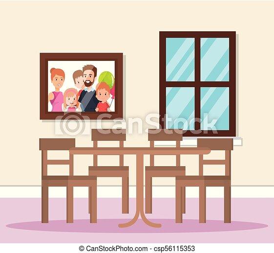 Home Dining Room Scene   Csp56115353