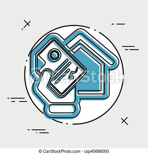 Home document icon - csp45686093
