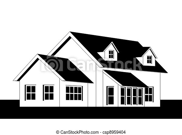 homes clipart black and white. home csp8959404 homes clipart black and white