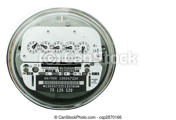Home electric power meter - csp2870166
