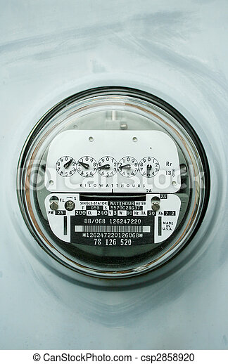 Home electric power meter - csp2858920