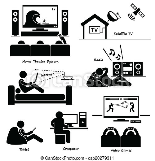 Home Electronic Appliances Icons