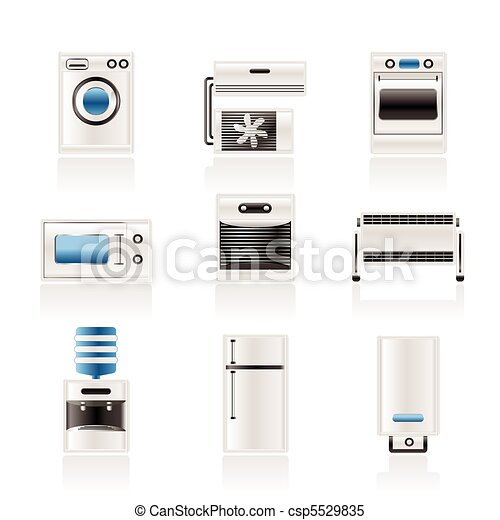 Home electronics and equipment icon - csp5529835