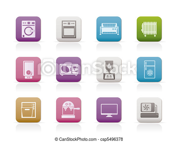Home electronics and equipment icon - csp5496378