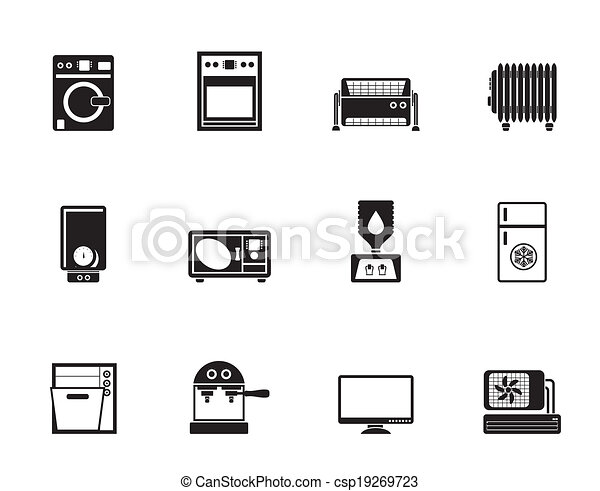 Home electronics and equipment icon - csp19269723