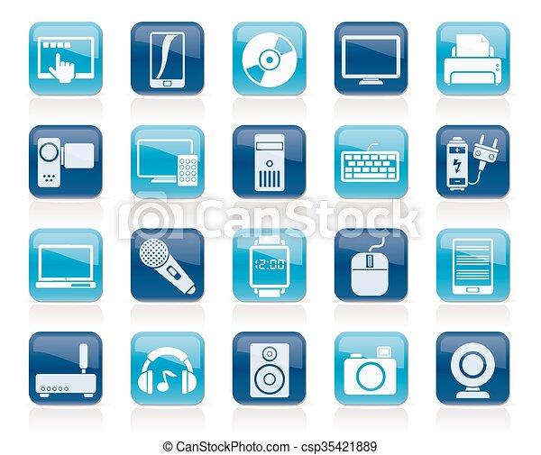 home electronics icons - csp35421889