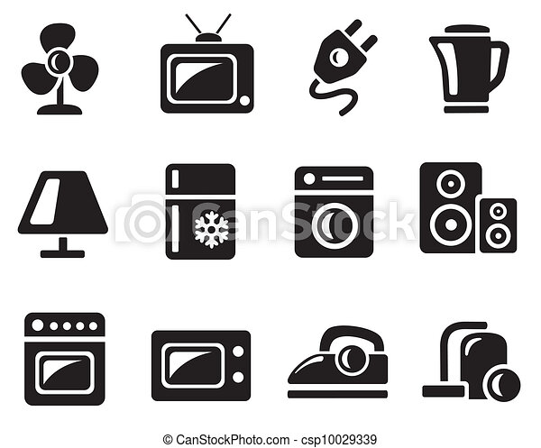 Home Electronics Icons Vector