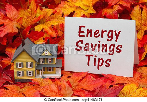 Home energy savings tips in the fall season - csp41463171