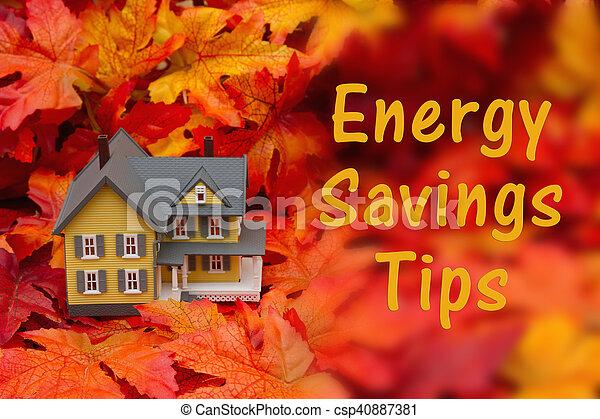 Home energy savings tips in the fall season - csp40887381