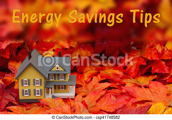 Home energy savings tips in the fall season - csp41748582