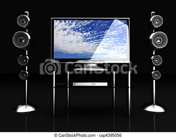 Home Entertainment System - csp4395056