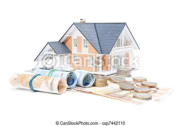 Home finances - house and money - csp7442110