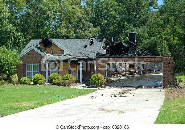 Home fire damage - csp10328186
