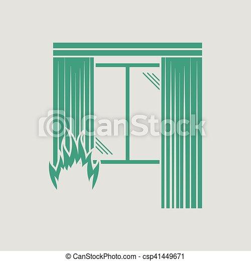 Home fire icon - csp41449671