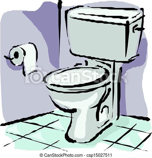 Home Flush Toilet Vector