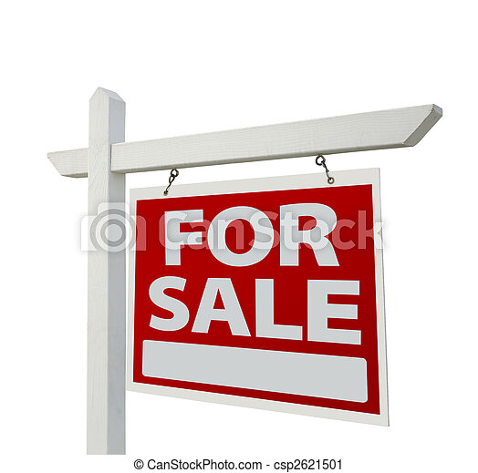 Home For Sale Real Estate Sign - csp2621501