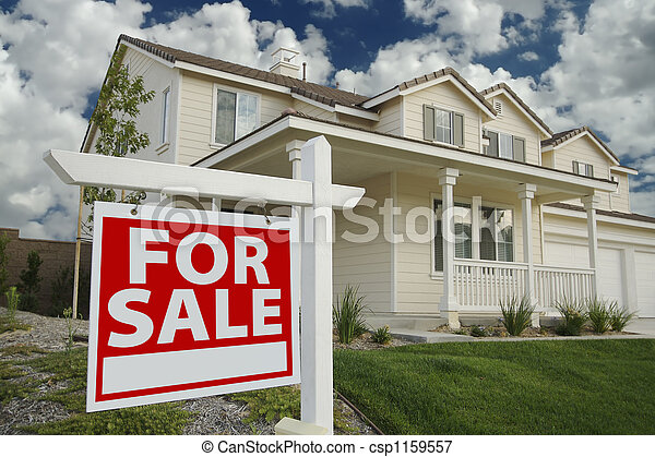 Home For Sale Sign & New Home - csp1159557