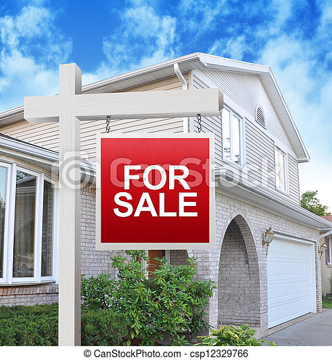Home for Sale Sign - csp12329766