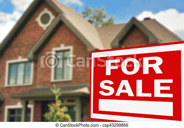Home for sale. Sign - csp43299866