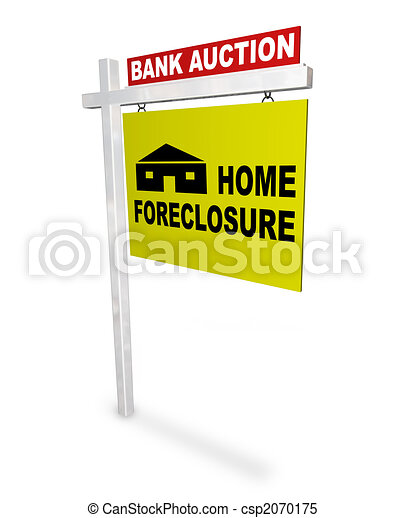 Home Foreclosure Sign - csp2070175